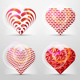 Original heart signs (icons, symbols). Stylized collection of vector graphics. Qualitative vector (EPS-10) illustration for valentines day, romantic relationship Royalty Free Stock Image