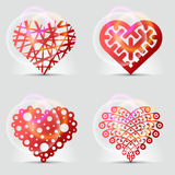 Original heart symbols (icons, signs). Stock Photo