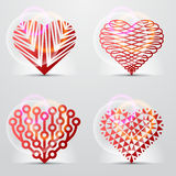 Original heart symbols (icons, signs). Royalty Free Stock Image