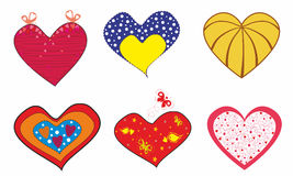 Original hearts for lovers.Vector illustration Royalty Free Stock Image