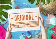 Original High Quality Stamp Sign Concept royalty free illustration