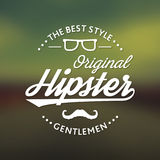 Original Hipster Style Poster Royalty Free Stock Photo
