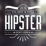Original Hipster Style Poster Stock Photography