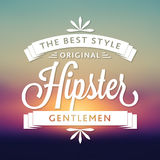 Original Hipster Style Poster Royalty Free Stock Photography