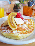 Original hotcake with fruit Royalty Free Stock Photos