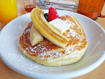 Original hotcake with fruit Royalty Free Stock Images