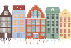 Original houses . Royalty Free Stock Images