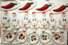 Original hungarian gifts handmade porcelain fridge magnet Royalty Free Stock Photos
