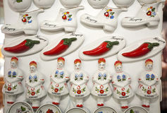 Original hungarian gifts handmade porcelain fridge magnet Stock Photography