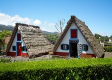 Original Huts in Santana Spring Royalty Free Stock Photo