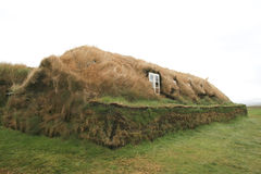 Original Icelandic house covered in grass Stock Images