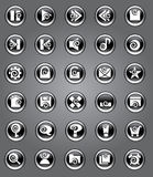 Original icons with curls Royalty Free Stock Images