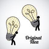 Original idea stock illustration