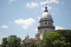 Original Illnois State Capital Building. State of Illinois original capital building taken in the spring Royalty Free Stock Photo