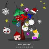 Original illustration of Christmas Royalty Free Stock Images