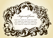 Original imperial frame imperial brown Stock Image