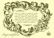 Original imperial frame Pistachio Royalty Free Stock Image
