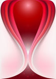 Original- ingreppsform av krökta röda flödande kurvor Arkivbilder