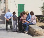 Daily life of the locals at Mallorca, Balearic Islands, Spain Royalty Free Stock Photos