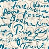 Original inscription of Europe cities Royalty Free Stock Image