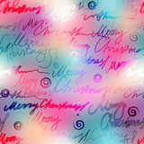 Original inscriptions Merry Christmas on blur Royalty Free Stock Photography