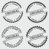 Original insignia stamp isolated on white. Stock Image