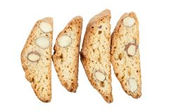 Original Italian crisp almond cookies Stock Photos