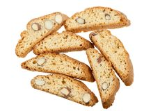 Original Italian crisp almond cookies Royalty Free Stock Images