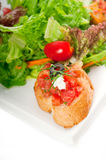 Original Italian fresh bruschetta Royalty Free Stock Photography