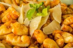 Original italian gnocchi,close up view Stock Images