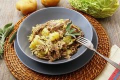 Italian pasta dish pizzoccheri. Original italian pasta dish pizzoccheri Stock Image
