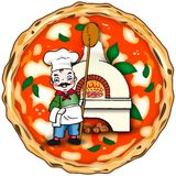 Original italian pizza Stock Photography