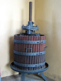 Original italian wine press royalty free stock photo