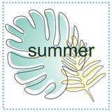 Original, juteux, carte d'été sur le ` d'été de ` de thème avec une découpe illustration libre de droits