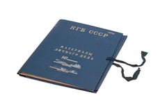 Original kgb top secret folder isolated on Stock Image