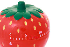Original kitchen clock in form strawberry Royalty Free Stock Photos