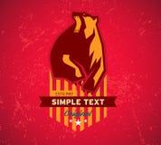 Original- klubba, logo och t-skjorta diagram, s Arkivbild