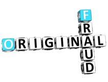 original- korsord för bedrägeri 3D Arkivfoto