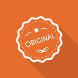 Original label. Flat style with long shadow Royalty Free Stock Photo