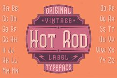 Original label typeface Royalty Free Stock Image