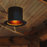 Original lamp in mini bar Stock Photography