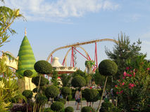 Original landscaping and attractions in Sochi Park, Russia Royalty Free Stock Images