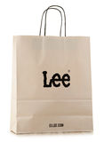 Original Lee paper shopping bag isolated on white Royalty Free Stock Photography
