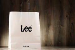 Original Lee paper shopping bag Stock Photos
