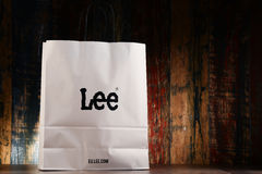 6d2ab04b3b Original Lee Paper Shopping Bag Isolated On White Editorial ...