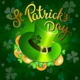 Original lettering St. Patricks Day Stock Images