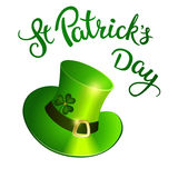 Original lettering St. Patricks Day Stock Photo