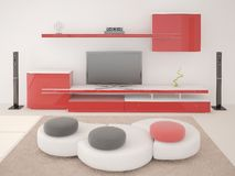 Original living room hi -tech. Royalty Free Stock Image