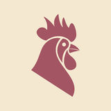 Original logo template with rooster mascot. Vector illustration stock illustration