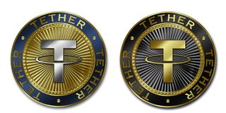 Cryptocurrency TETHER coin Royalty Free Stock Photography